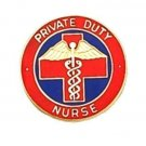 Private Duty Nurse  Lapel Pin Professional Nursing Red Cross Caduceus 5025 New