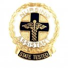 Nursing Assistant State Tested Lapel Pin Graduation Ceremony Caduceus Wreath New