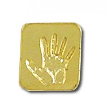 Pro Life Awareness Lapel Pin Fetal Baby Hand Print Promote Save a Life New
