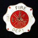 Fire Department Lapel Pin Maltese Cross Fireman Fighting Fires Ladder Hat Ax New
