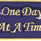 AA One Day At A Time Lapel Pin Tac Alcohol Anonymous Inspirational Faith New