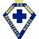 RN Registered Nurse Pin Blue Cross Lamp of Knowledge Graduation Nursing 110 New