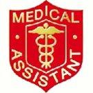 Medical Assistant Professional Caduceus MA Red Shield Emblem Lapel Pin 107