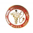 Pediatric Nurse Medical Lapel Pin with Stethoscope Caduceus 111 New
