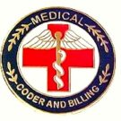 Medical Coder Billing Pin Professional Lapel Pins Red Cross Caduceus 119 New