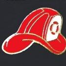 Red Fire Department Chief Hat Gold Plate Insignia Emblem Lapel Pin Cap Tac New
