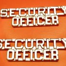 Security Officer Collar Pin Set Insignia Nickel Metal Cut Out Letter 2203 New
