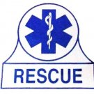 Window Decal Rescue Blue Star of Life EMT EMS Sticker Fireman Decals New