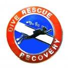 Dive Rescue Recovery Pin Lapel Device Scuba Diver Diving Team Collar Silver 67S2