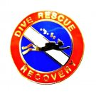Dive Rescue Recovery Lapel Pin Scuba Diver Diving Team Gold  67G1 Metal Back New