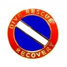 Dive Rescue Recovery Lapel Pin Gold Scuba Diver Flag Diving Team 68G1 M New