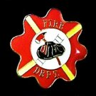 Fire Department Lapel Pin Red Maltese Cross Fireman Fires Chief Hat PIN236 New