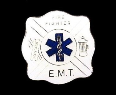 EMT Fire Fighter Lapel Pin Blue Star of Life Cap Tac Ladder Hydrant Fund Raising