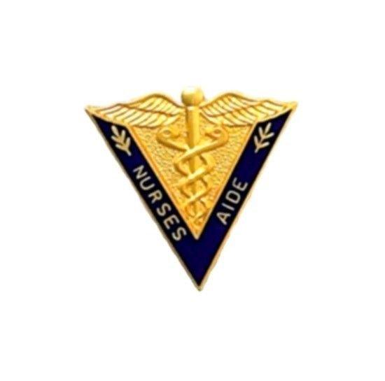 Nurses Aide Lapel Pin Nurse's Medical V Gold Caduceus Graduation Pins 5009 New