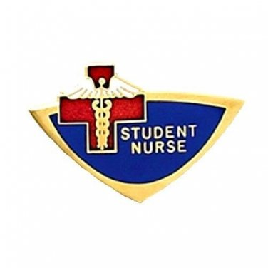 Student Nurse Lapel Pin Nursing Students Blue Red Cross Nurses Emblem 934 New