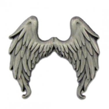Angel Wings Lapel Pin Tac Antiqued Nickel 3-D Inspirational Awareness Pins New