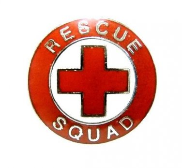 Rescue Squad Lapel Pin Tac Red Cross EMS Nickel Military Clutch Back 70S1 New