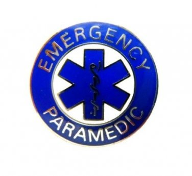 Emergency Paramedic Collar Pin Device Uniforms Silver Blue Star of Life 63S2 New
