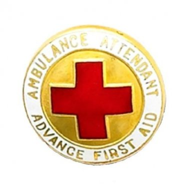 Advance First Aid Pin Ambulance Attendant Medical Insignia Graduation 937 New
