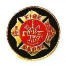 Fire Department Pin Dept Maltese Cross Fireman Hydrant Ladder Hat Lapel Cap Tac