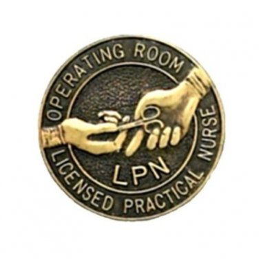 LPN Operating Room Nurse Pin Graduation Emblem Lapel Pins Professional 5050 New