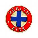 Health Aide Lapel Collar Pin Medical Insignia Blue Cross Emblem Professional 947