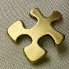 Autism Asperger Pin Antiqued Brass Awareness Crucial Puzzle Piece Cap Tac New