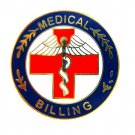 Medical Billing Lapel Pin Professional Medical Red Cross Caduceus 115 New