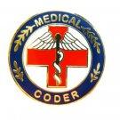 Medical Coder Lapel Pin Red Cross Caduceus Professional Career Pins 116 New