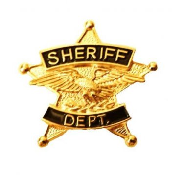 Sheriff Department Tie Tac 5 Point Star Eagle Officer Gold Plated P3800G
