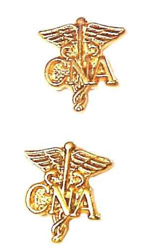 CNA Caduceus Lapel Pin Set of 2 Cap Tacs Certified Nurses Aide Assistant New
