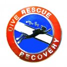 Dive Rescue Recovery Tie Tack Diving Team Silver Search Scuba Diver 67ST Tie