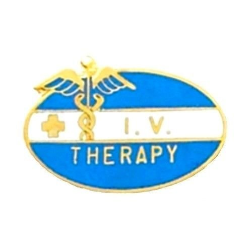 IV Therapy Pin Nurse Caduceus Cross Medical Pins Graduation Recognition 5034 New