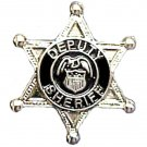 Deputy Sheriff Tie Tac 6 Point Star Eagle Crest Badge Tack Officer Nickel 3805
