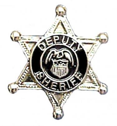 Deputy Sheriff Tie Tac 6 Point Star Eagle Crest Badge Tack Officer Nickel 3805
