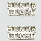 Honor Guard Collar Pin Set Fire Dept Police Military Nickel Cut Out Letters 2227