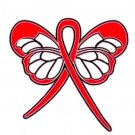 Dysautonomia Awareness Month is March Red Ribbon Butterfly Lapel Pin New