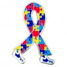 Autism Awareness Lapel Pin Puzzle Ribbon Walking Legs Tac New
