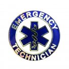 EMT Emergency Medical Technician Lapel Pin Nickel Blue Star of Life 58S1