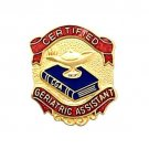 Certified Geriatric Assistant Medical Lapel Pin 951 New