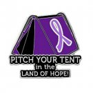 Epilepsy Awareness Pin Lavender Ribbon Tent Land of Hope Camper