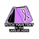 Pancreatic Cancer Pin Awareness Purple Ribbon Tent Land of Hope Camper