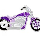 Cystic Fibrosis Lapel Pin Awareness Purple Ribbon Motorcycle Pin New