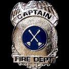 Fire Dept Captain Pin Miniature Badge Eagle Lapel Cap Tac Promotional Grade