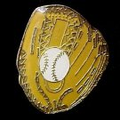 Baseball Glove Ball Mitt Lapel Cap Pin Tac Enamel New