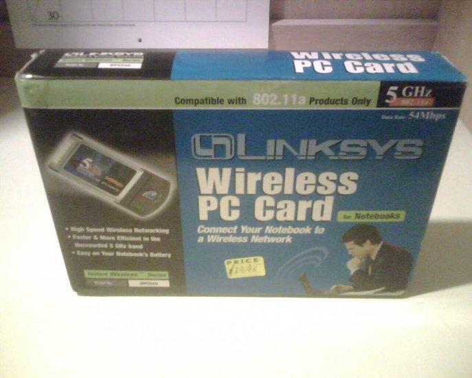 Linksys WPC54A Wireless Card 5GHZ