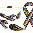 Autism Awareness Ribbon Stickers - 100 count