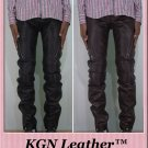 GENUINE INDIAN SHEEP LEATHER MENS SKINNY FIT CIGARETTE BIKERS RIDING PANT MP01