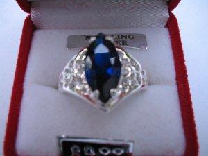 QVC Royal Blue Sapphire Ring