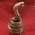 KING COBRA SNAKE THAI MINI BRASS AMULET STRONG LIFE PROTECTION THAILAND TALISMAN